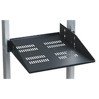 "19"" IT Rackmount Vented Shelf 21.75""D - Fixed, 2U, 2-Point Mounting, 150lbs"