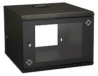 "Wallmount Cabinet - 8U, 22""W x 23.6""D, M6 Square Holes, 50-lb. Capacity"