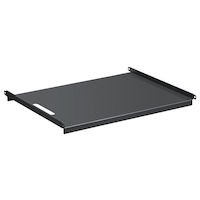 """19"""" Solid Stationary Shelf for the Comm Cabinet and NetRack - 1U, Fixed, 24.3""""D, 4-Point Mount"""