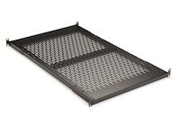 "IT Rackmount Vented Shelf - Fixed, 1U, 19"", 30""D, 4-Point Mounting, 150-lb. Capacity"