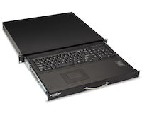"""Rackmount Keyboard Tray with Mouse Tray - Sliding, 1U, 19"""", 15.75""""D, 2-Point Mounting"""