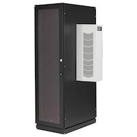 ClimateCab NEMA 12 Server Cabinet with 12000-BTU AC - 42U, Tapped Rails, 110V