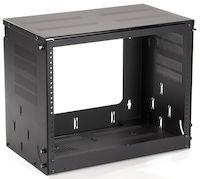 "Wallmount Cabinet - 8U, 20""W x 12""D, 10-32, Tapped Rails, 50-lb. Capacity"