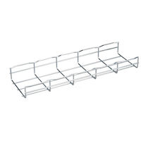 "BasketPAC Cable Tray Section - 2""H x 78""L x 6""W, Steel, 4-Pack"