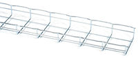 "Basket Tray Section - 2""H x 10'L x 6""W, Steel, 3-Pack"