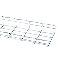 "Basket Tray Section - 2""H x 10'L x 8""W, Steel, 3-Pack"