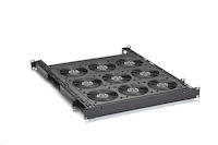 Rackmount Fan Tray - 2U, (9) 75 CFM Fans and Guards