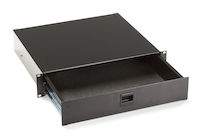 Rackmount Media Storage Drawer - 2U, Black