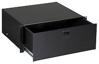 Rackmount Media Storage Drawer, 4U, Black