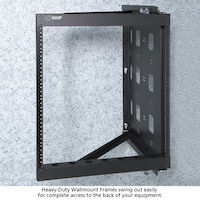 Wallmount Rack - 20U, 10-32, Tapped Rails Holes, 100-lb. Capacity