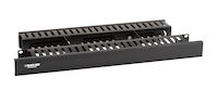 "Horizontal IT Rackmount Cable Manager - 1U, 19"", Double-Sided Black"