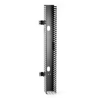 """Vertical Cable Manager, Finger Duct with Cover - 35""""H x 4.3""""W x 5.25""""D, Rackmount, Side-Mount, Single-Sided, Black"""