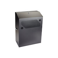 "Low-Profile Vertical Wallmount Cabinet - 6U, 24""D Equipment"