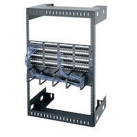 Wallmount Rack - 30U, M6 Square Holes, 125-lb. Capacity