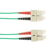 OS2 9-Micron Single-Mode Fiber Optic Patch Cable - OFNR PVC, SC-SC, Green, 8-m (26.3-ft.)