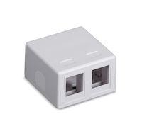 Surface Mount Housing White 2-Port