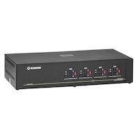 Secure KVM Matrix Switch, NIAP 3.0 Certified - 4 Users, DVI-I, USB, Audio, CAC