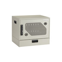 Wallmount Charging Locker - 10-Device, Hasp Lock, Drawer
