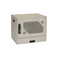 Wallmount Charging Locker - 10-Device, Hasp Lock, Locking Drawer