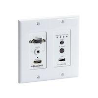 Extender Wallplate Transmitter - 4K, HDMI, VGA, HDBaseT, USB