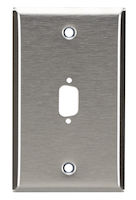 Wallplate - Stainless Steel, DB9, Single-Gang, 1-Port