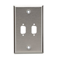 Wallplate - Stainless Steel, DB9, Single-Gang, 2-Port