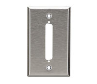 Wallplate - Stainless Steel, DB37, Single-Gang, 1-Port