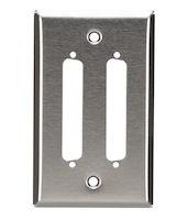 Wallplate - Stainless Steel, DB37, Single-Gang, 2-Port
