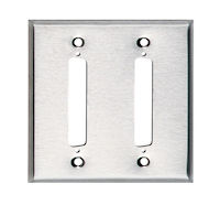 Wallplate - Stainless Steel, DB37, Double-Gang, 2-Port
