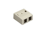 Surface Mount Housing 2-Port Office White