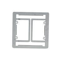 Dry-Wall Mounting Plate Low Voltage Double-Gang