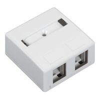 Surface Mount Housing 2-Port White