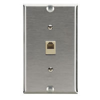 Wallplate - Stainless Steel with Phone Jack