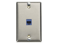 CAT6 VoIP Wallplate - Stainless Steel