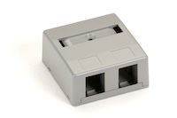 Surface Mount Housing 2-Port Office Gray