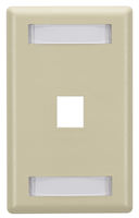 Wallplate Plastic Single-Gang 1-Port Keystone Electric Ivory