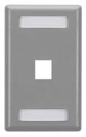 Wallplate Plastic Single-Gang 1-Port Keystone Gray