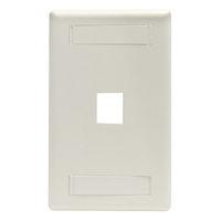 Wallplate Plastic Single-Gang 1-Port Keystone Office White
