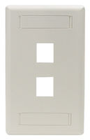 Wallplate Plastic Single-Gang 2-Port Keystone Office White