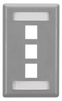 Wallplate Plastic Single-Gang 3-Port Keystone Gray
