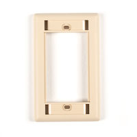 Modular Wallplate Single-Gang Telco Ivory