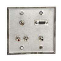 Wallplate AV SS 1 VGA F/F 1 3.5MM F/F 5 RCA F/F