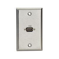 AV Wallplate - Stainless Steel, 1 HDMI, Female to Female