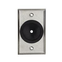 """AV Wallplate - Stainless Steel - 1/4"""" to 1-3/4"""" Rubber Grommet"""