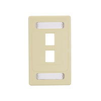 Wallplate Plastic Single-Gang 2-Port Ivory