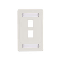 Wallplate Plastic Single-Gang 2-Port White