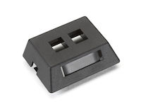 GigaStation2  Modular Furniture Wallplate - 2-Port, Black