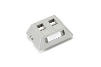 GigaStation2  Modular Furniture Wallplate - 2-Port, Gray