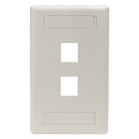 Wallplate Plastic Single-Gang 2-Port Keystone Office White