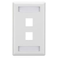 GigaStation2  Keystone Wallplate - Single-Gang, 2-Port, White